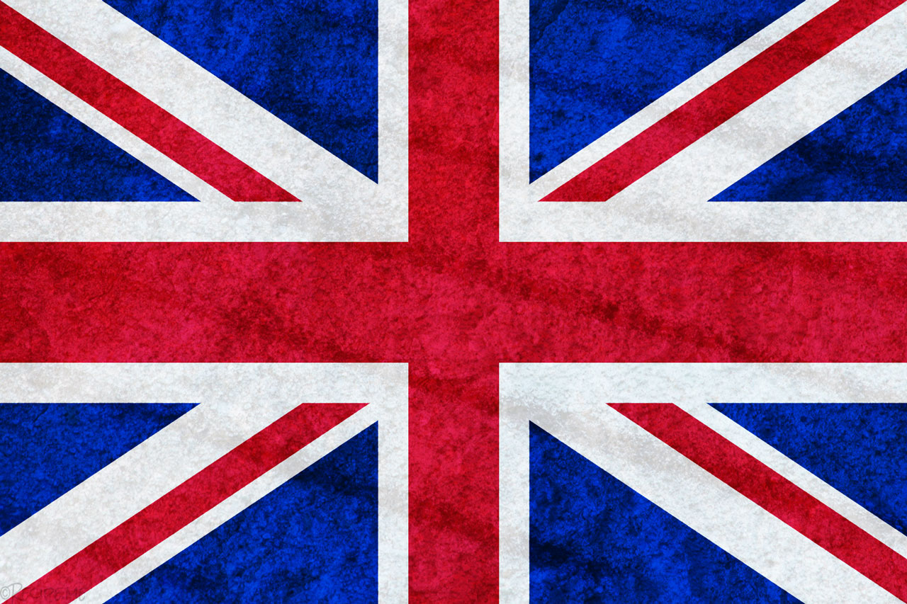 UK Flag with Texture