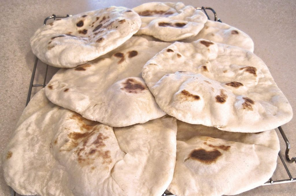 Homemade Fresh Naan Middle Eastern Delicious Flatbread